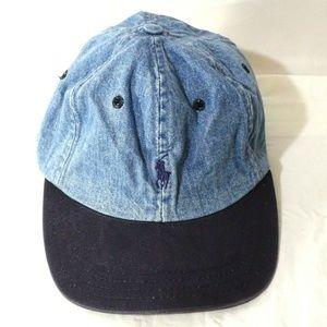 Vintage 90s Ralph Lauren Polo Sport Denim Cap